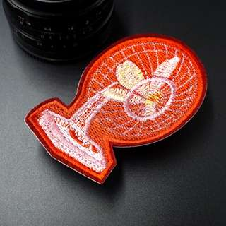 #20 random tumblr fan mouth eyeball record player snake iron on patch | PO