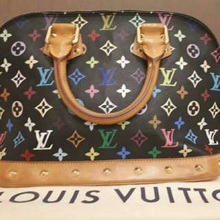 Authentic Louis Vuitton Alma Black Multicolored🌸🌹🌷