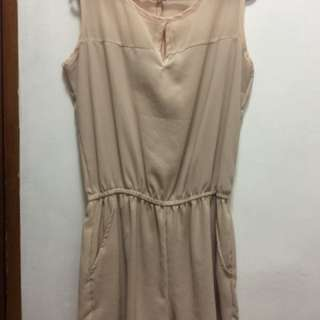 See through dress (Beige)