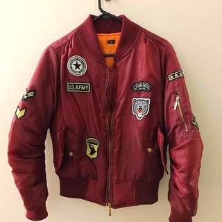Boohoo Oversized bomber Jacket