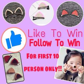 Follow us to win(pm me your mailing address)