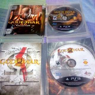 PS3 God of War 1 to 3