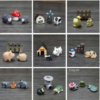 CUTE AND ADORABLE FIGURINES FOR  CUSTOM  TERRARIUMS