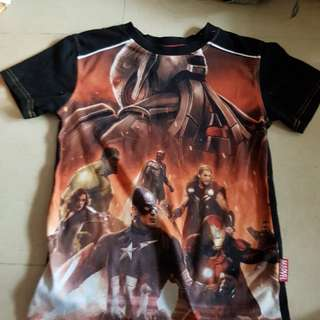 marvel boys shirt