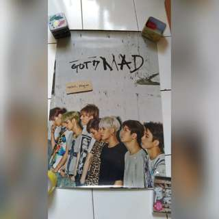 [POSTER CLEARANCE] GOT7 MAD GROUP POSTER VER 1