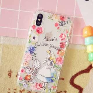 I phone x case Alice in wonderland 愛麗斯 手機殻