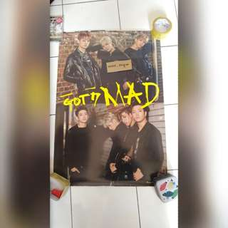 [POSTER CLEARANCE] GOT7 MAD GROUP POSTER VER 2