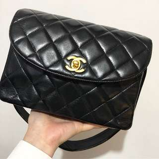 Chanel vintage lambskin flap bag