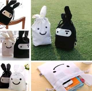 Ninja Bunny drawstring bag