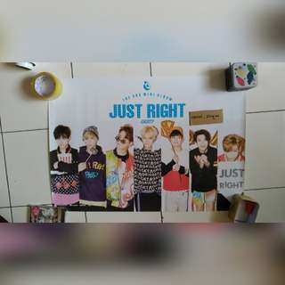 [POSTER CLEARANCE] GOT7 JUST RIGHT GROUP POSTER VER 2