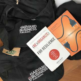 Harvard Business Bag and Books