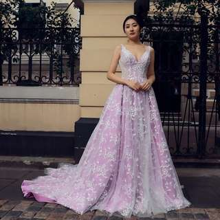 2018 spring new arrival purple wedding gown