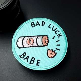 #21 bad luck babe cosmic tumblr iron on patch | PO