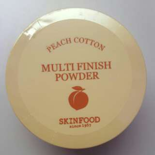 Skinfood peach cotton multi finish powder 15g (large version)