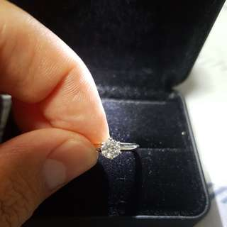 O.34 carat diamond ring