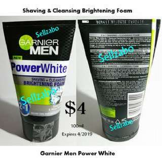 Men Garner Face Shaving Cleansing Foam