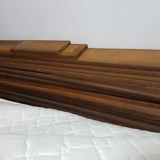 Chengal timber wood planks