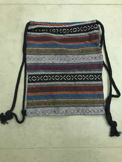 Brand New Woven Drawstring Bag