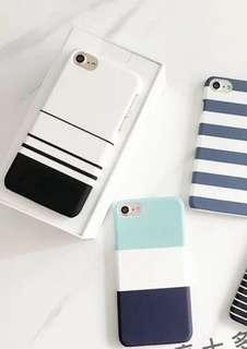 [全新包郵]iPhone X 簡約易襯線條手機殻
