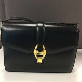 Celine vintage black structured bag