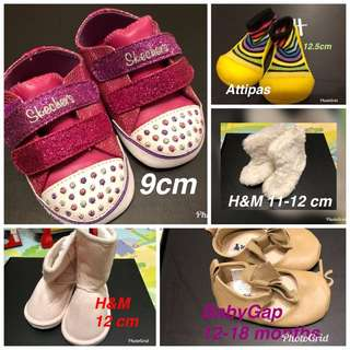 Sketchers, BabyGap, H&M baby shoes