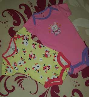 2 PIECES CARTER'S LOVE BABY ROMPERS