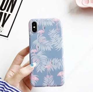 [全新包郵]全新iPhone X 紅鶴全包邊手機殻(藍色)