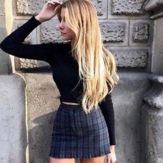 Brandy Melville Juliette Gingham Skirt