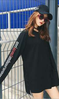 Ulzzang wording long sleeve