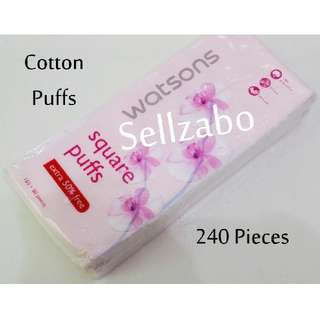Watsons Square Pads White Cotton Puff Sellzabo Colour Wool Apply Toner