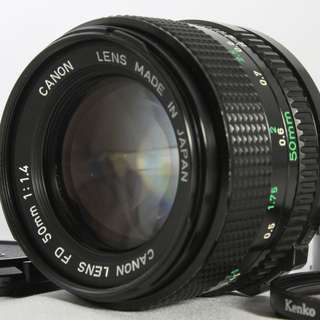 Near Mint Canon New FD 50mm f1.4 Manual Focus Lens from Japan