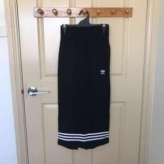 Adidas high waisted midi skirt
