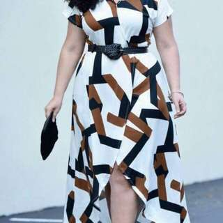 💁🏻Elegant Plus Size Dress with belt🔥