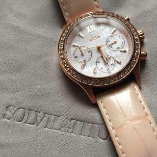 送全新錶帶!Titus watch 閃鑽貝殼面 手錶