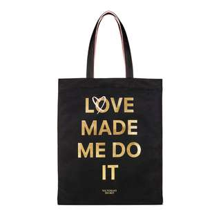 Victoria's Secret Love Made Me Do It Two Sided Tote Bag