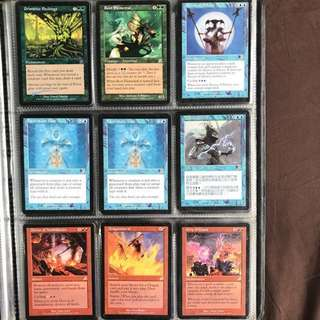 MTG Magic the Gathering Cards - Primitive Etchings; Root Elemental; Decree of Silence; Faces of the Past; Raven Guild Master; Decree of Annihilation; Dragonstorm; Grip of Chaos