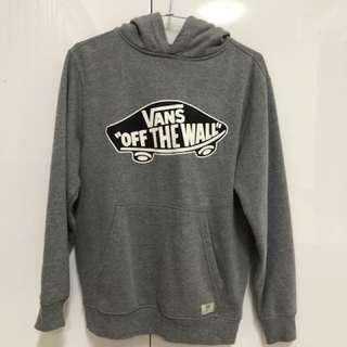 Vans Logo 帽T 灰色 內裡 刷毛 保暖 出清 滑板品牌