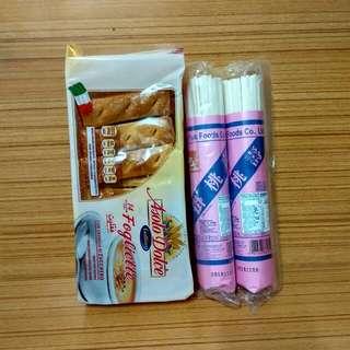Gallina营養餅,寿桃掛麵,3包計15元?2款食用期至15一11一2018年