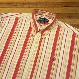 Kemeja RALPH LAUREN Striped Button Down Shirt Lengan Panjang