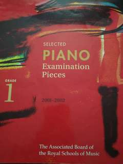 2001-2002 Grade 1 Piano Exam Pieces