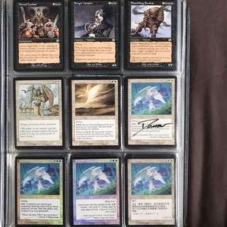 MTG Magic the Gathering Cards - Mortal Combat; Sengir Vampire; Shambling Swarm; Commander Eesha; Eternal Dragon; Glory