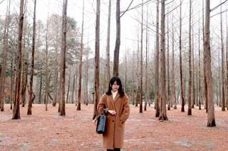 Korean Brown Trench Coat/ Winter Coat