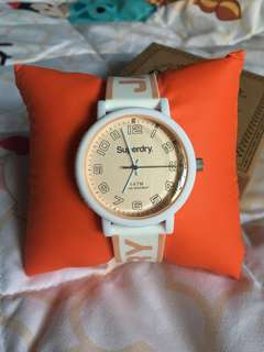 Superdry White Rose Gold Watch