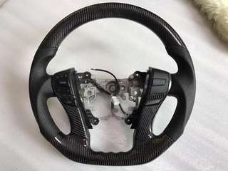 Mark X Carbon Fiber Steering Wheel with Audio Button