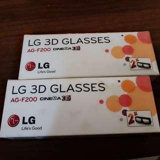 LG 3D  GLASSES 4 PCS