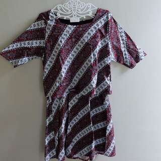 Bigsize dress batik