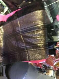 Gucci 真絲混 純羊毛 閃閃 被肩 全新購自意大利 保證真品 130x130
