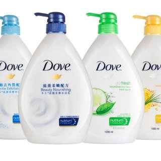Dove body wash 1litre