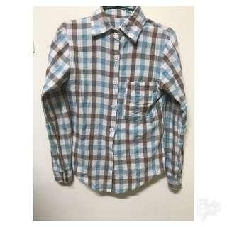 🚚 灰咖格子襯衫