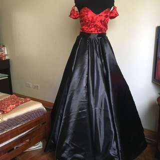 3way Ballgown removable sleeves and filipiniana shoulder